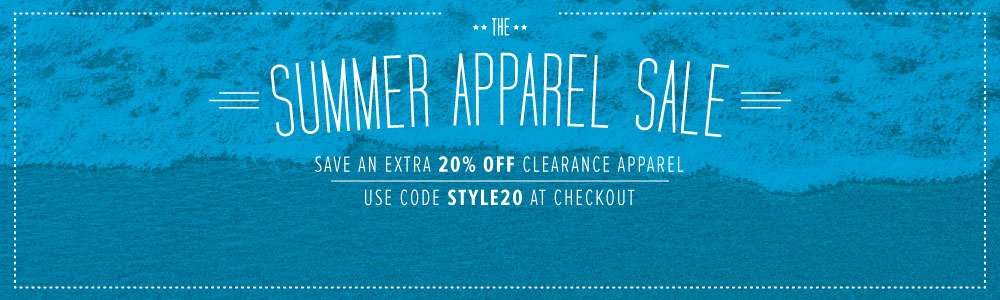 20% Off Apparel Sale